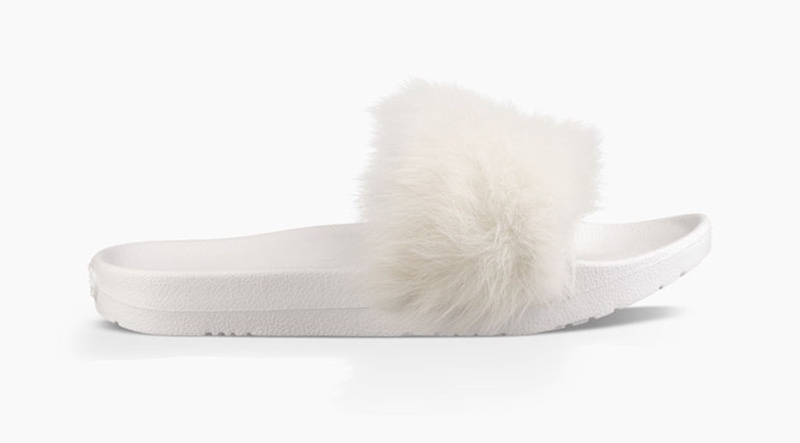 Get glamorous with UGG's silky fur sandal