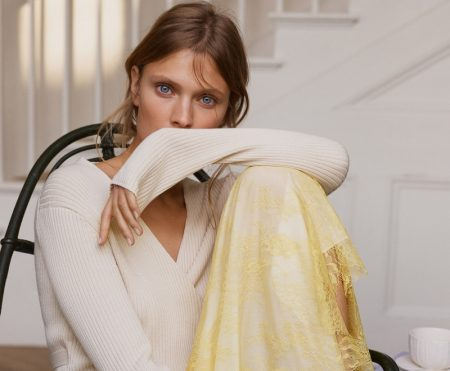 Constance Jablonski Lounges in Zara Home's Spring Lingerie Collection