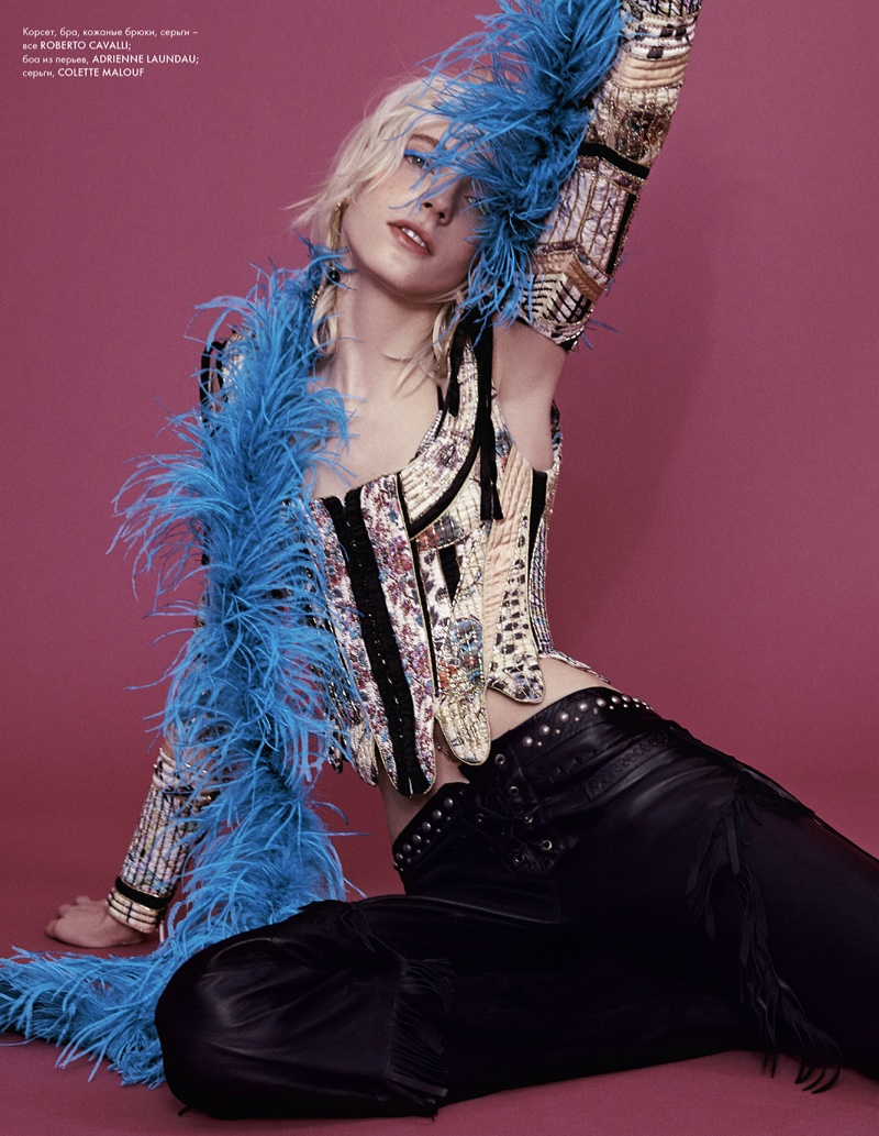 Photographed by Yossi Michaeli, the model wears rock and roll inspired styles for the editorial