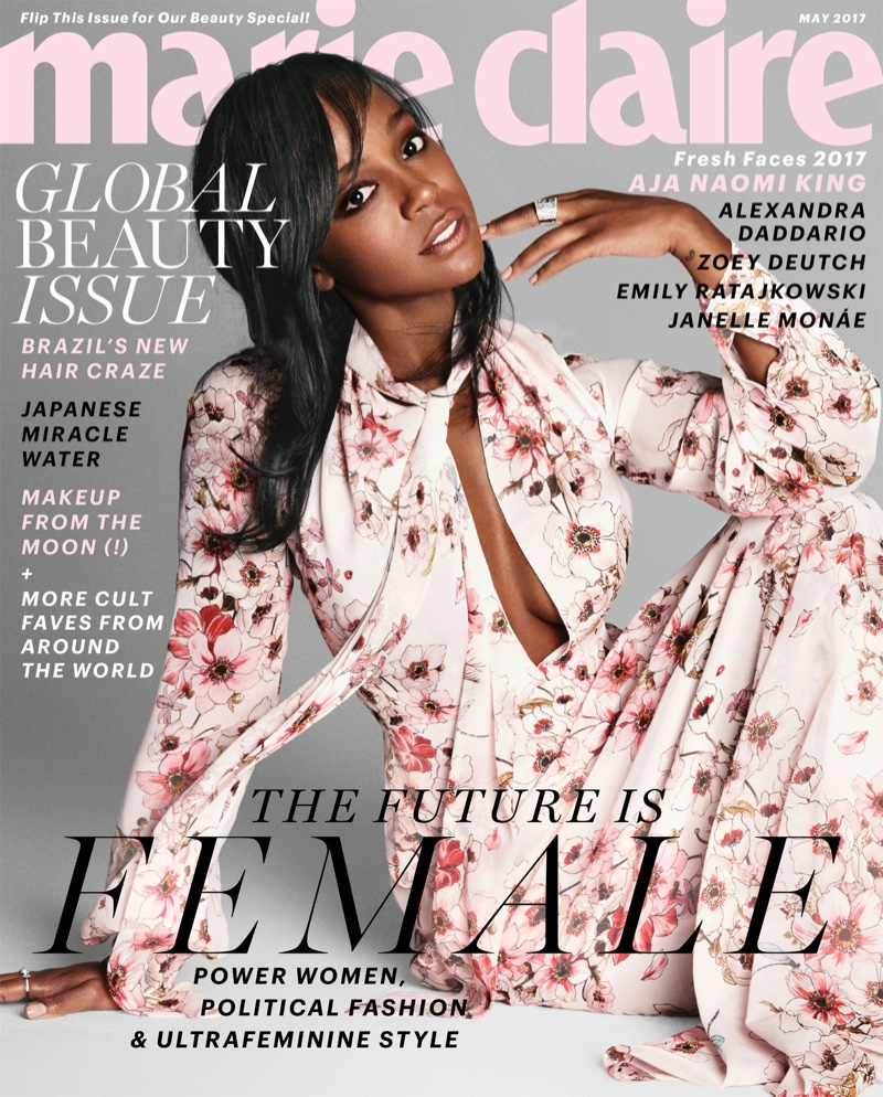 Aja Naomi King on Marie Claire May 2017 Cover