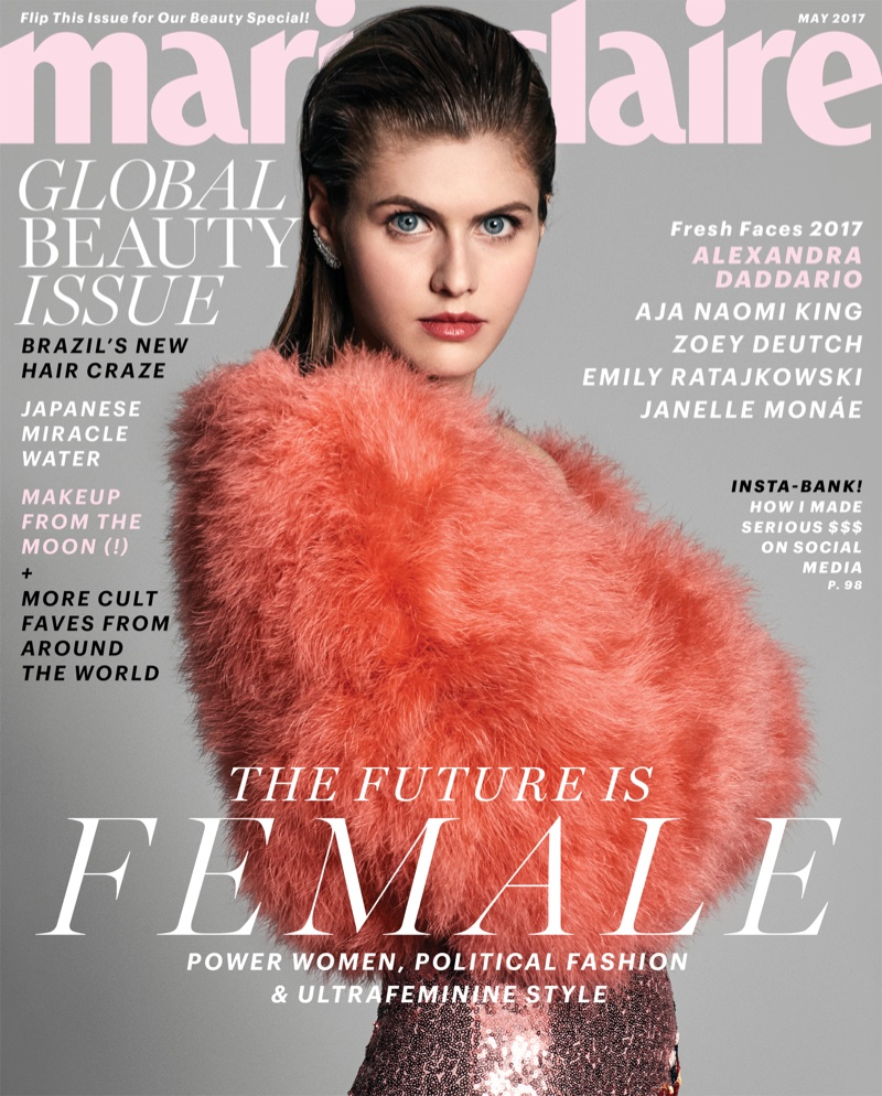 Alexandra Daddario on Marie Claire May 2017 Cover
