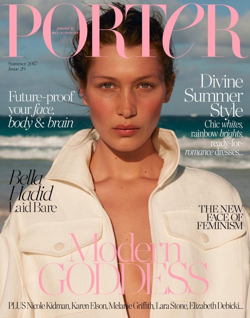 Bella Hadid on PORTER Magazine Summer 2017 Cover