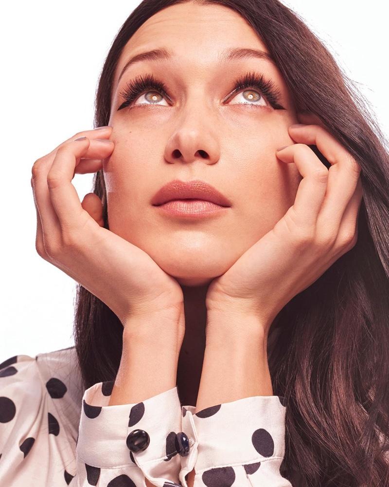 Getting her closeup, Bella Hadid flaunts major lashes