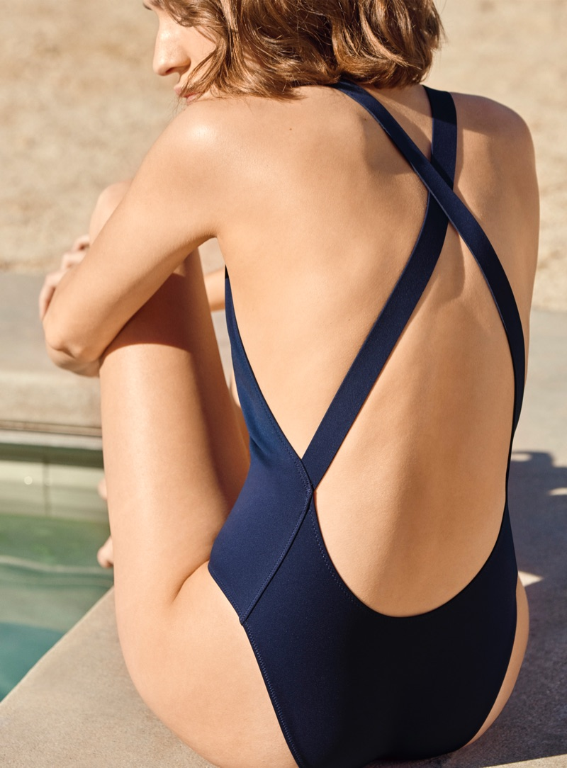 COS High Round-Neck Swimsuit