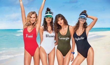 Toni Garrn, Blanca Padilla, Georgia Fowler and Ophelie Guillermand star in Calzedonia's summer 2017 swimwear campaign