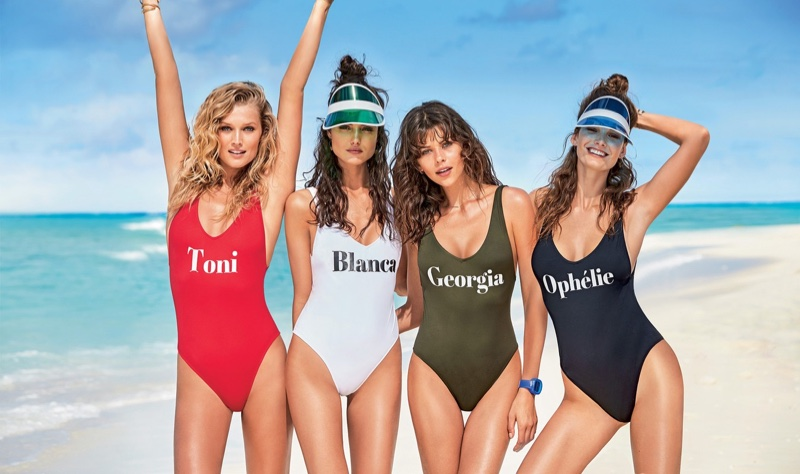 Toni Garrn, Blanca Padilla, Georgia Fowler and Ophelie Guillermand star in Calzedonia's summer 2017 swimwear campaign