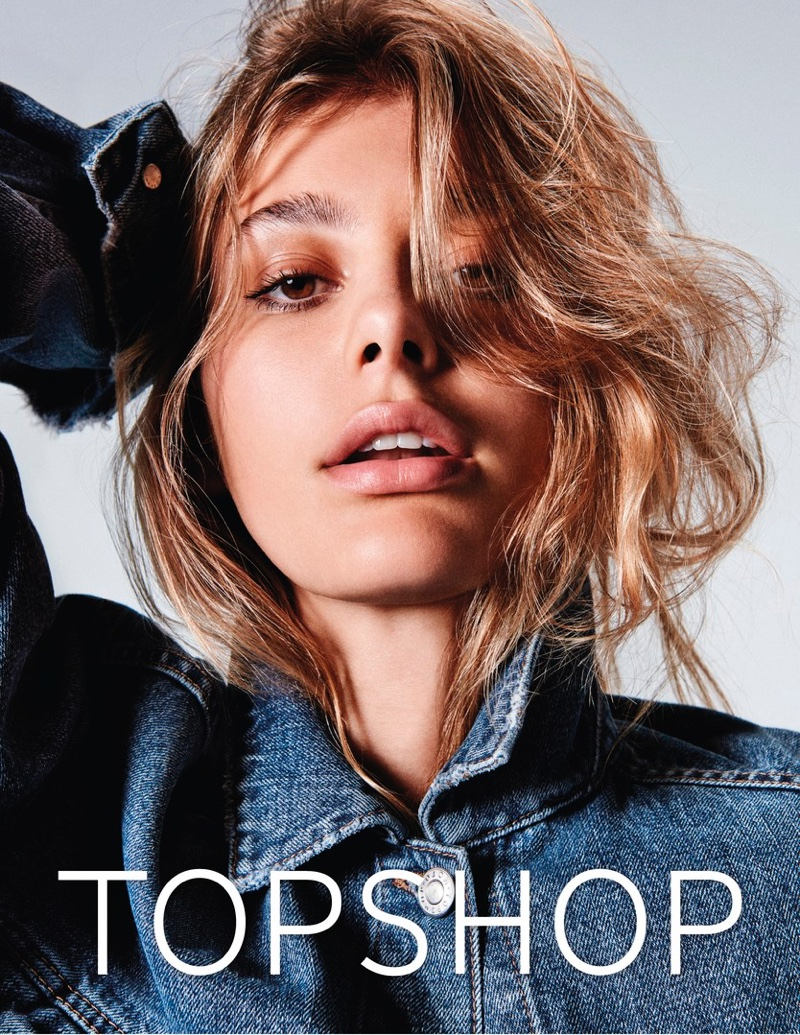 Cami Morrone gets her closeup in Topshop Jeans' spring-summer 2017 campaign