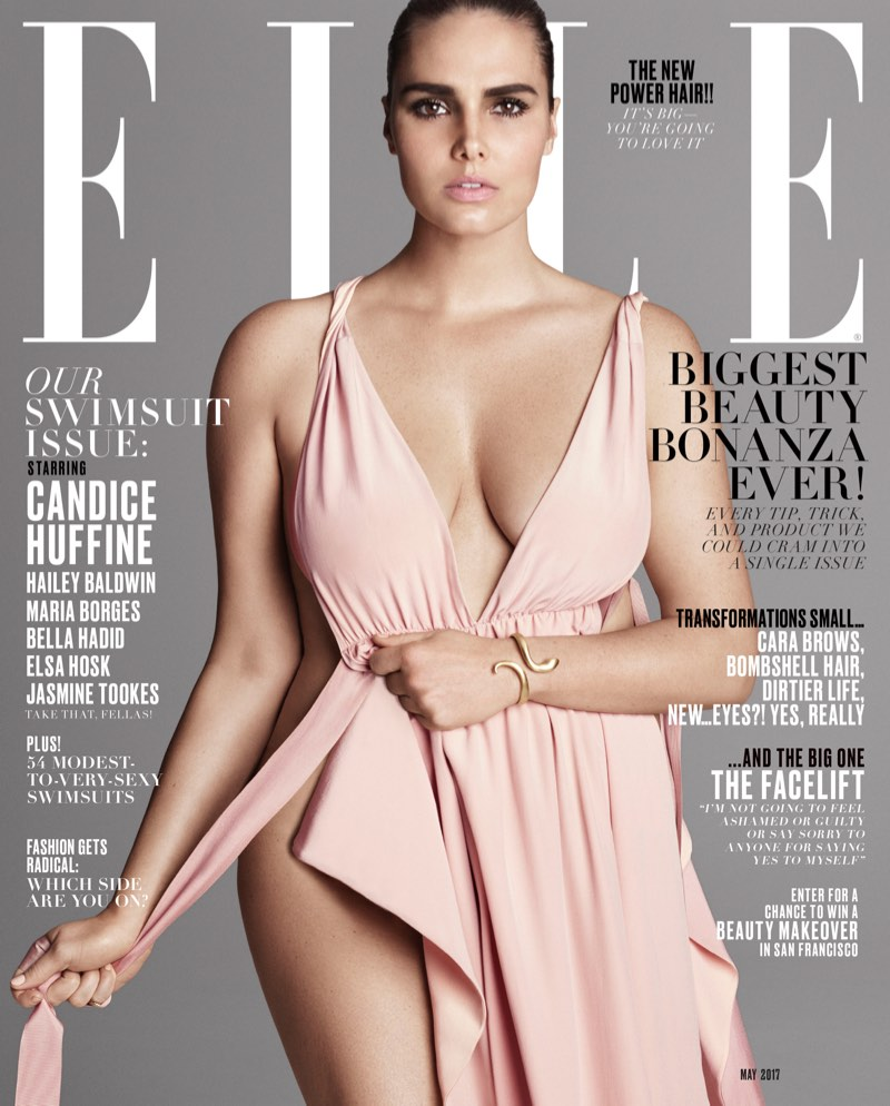 Candice Huffine on ELLE Magazine May 2017 Cover