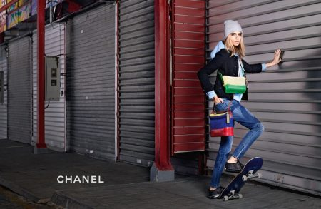 Cara Delevingne stars Chanel Gabrielle handbag campaign