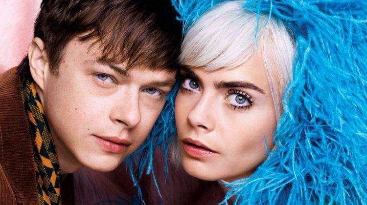 Looking retro chic, Cara Delevingne and Dane DeHaan model Prada looks