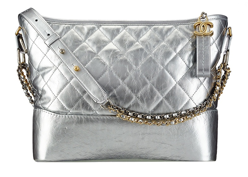 Chanel Gabrielle Hobo Bag In Silver 3 600