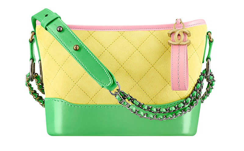 Chanel Gabrielle Hobo Bag in Yellow/Green/Pink $3,200