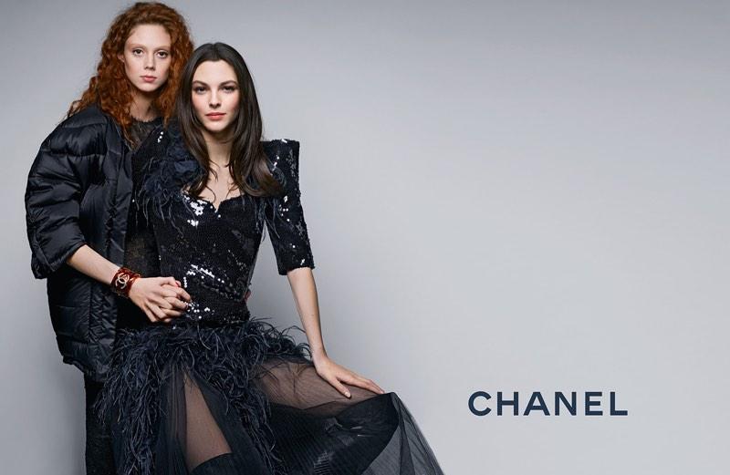 Natalie Westling and Vittoria Ceretti star in Chanel's pre-fall 2017 campaign