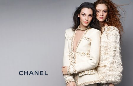 Karl Lagerfeld photographs Chanel's pre-fall 2017 advertising campaign