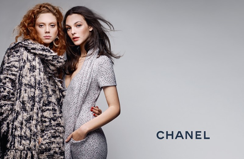 Luxe knitwear stands out in Chanel's pre-fall 2017 campaign