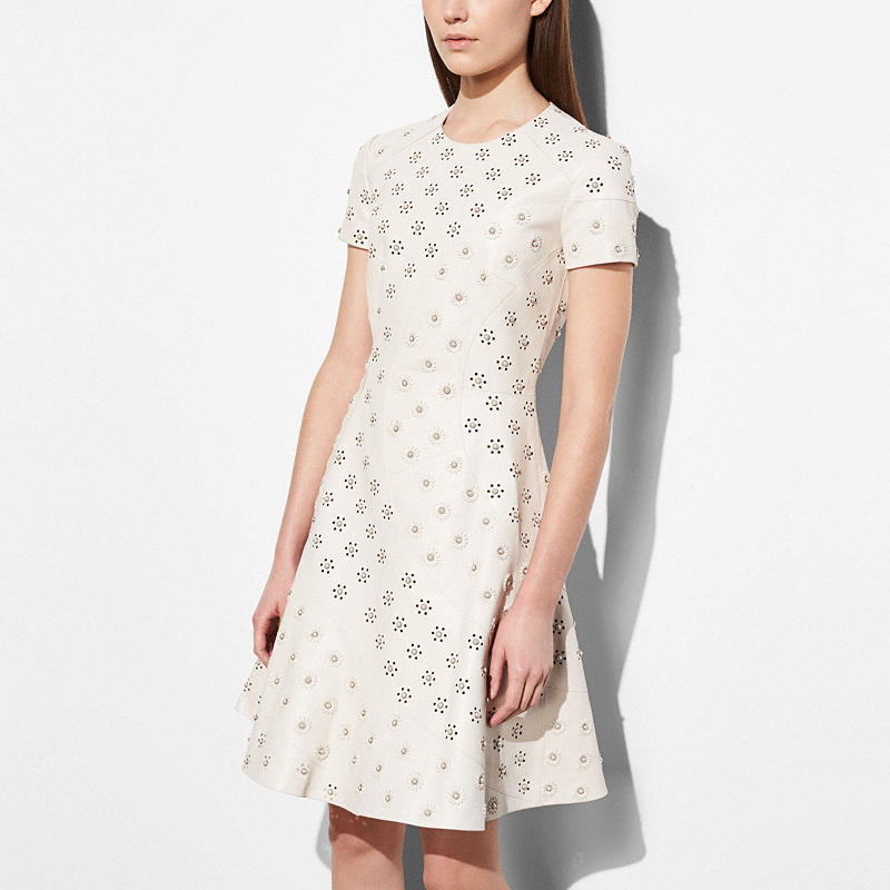 Coach and Rodarte Leather Dress with Whipstitch Eyelet $2,500