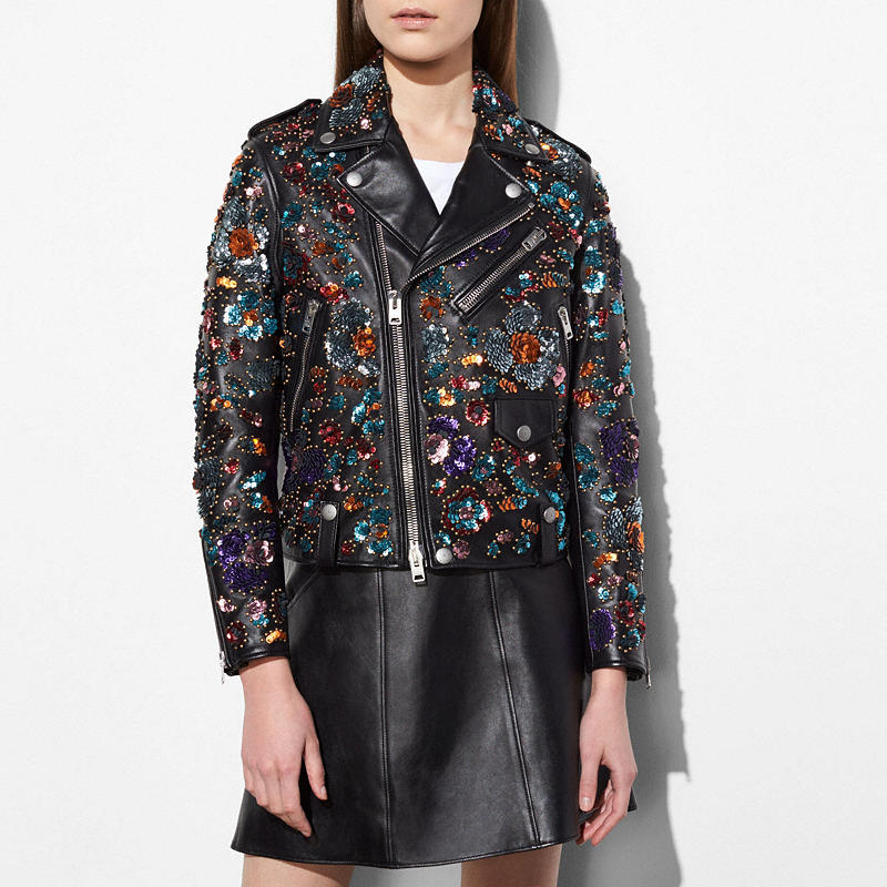 Coach and Rodarte Moto Jacket with Leather Sequins $3,500