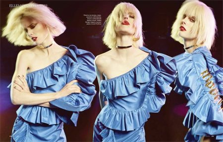 Coco Rocha Channels 1980's Style in ELLE Russia Cover Story