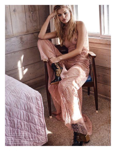 Daphne Groeneveld Wears Chic Neutrals in Narcisse Magazine