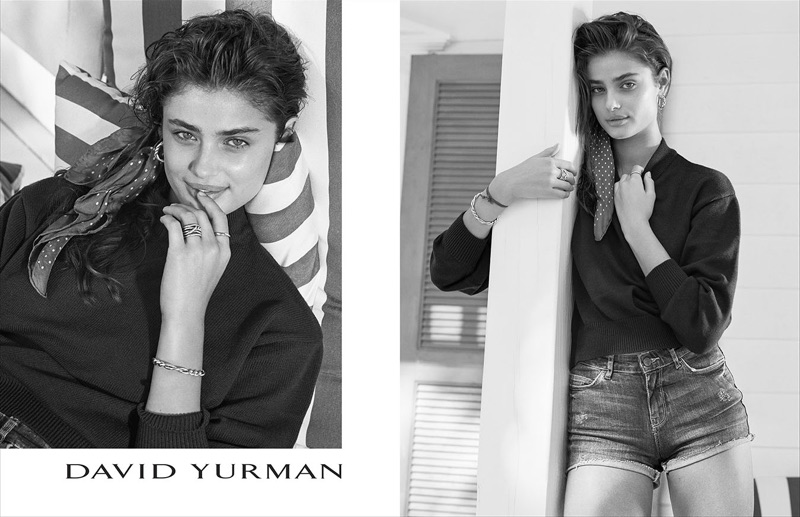 Taylor Hill stars in David Yurman's spring-summer 2017 campaign