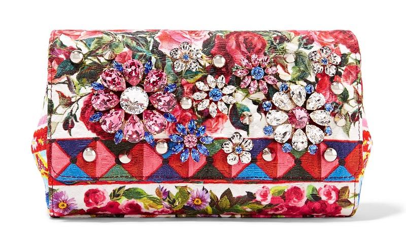 Dolce Gabbana Escape Anna Embellished Printed Brocade Shoulder Bag 2 645 Available At Net