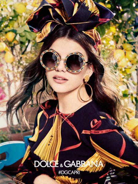 Sonia Ben Ammar Stars in Dolce & Gabbana Eyewear's Spring 2017 Campaign