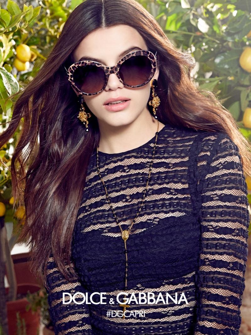 Sonia Ben Ammar stars in Dolce & Gabbana Eyewear's spring-summer 2017 campaign