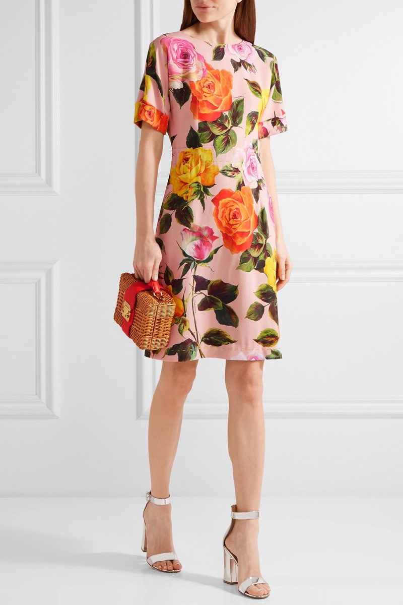 Dolce & Gabbana Floral Print Cady Dress $2,595, available at Net-a-Porter
