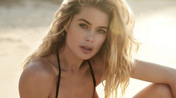 Doutzen Kroes Smolders in New Swimwear Campaign