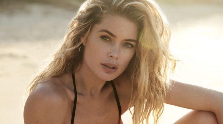 Model Doutzen Kroes wears her swimsuit collaboration with Hunkemoller called, Doutzen Stories