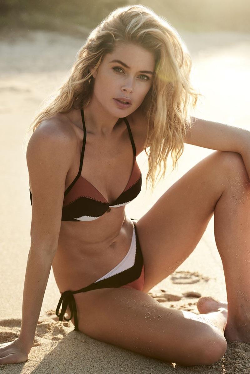Doutzen Kroes Smolders in New Swimwear Campaign