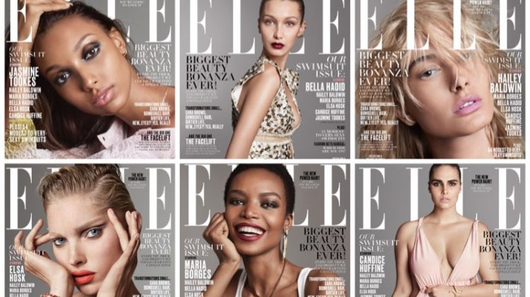 Bella Hadid, Jasmine Tookes & Hailey Baldwin Cover ELLE's May Issue