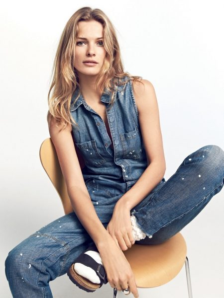 Edita Vilkeviciute Keeps It Casual in Free People's Spring Looks