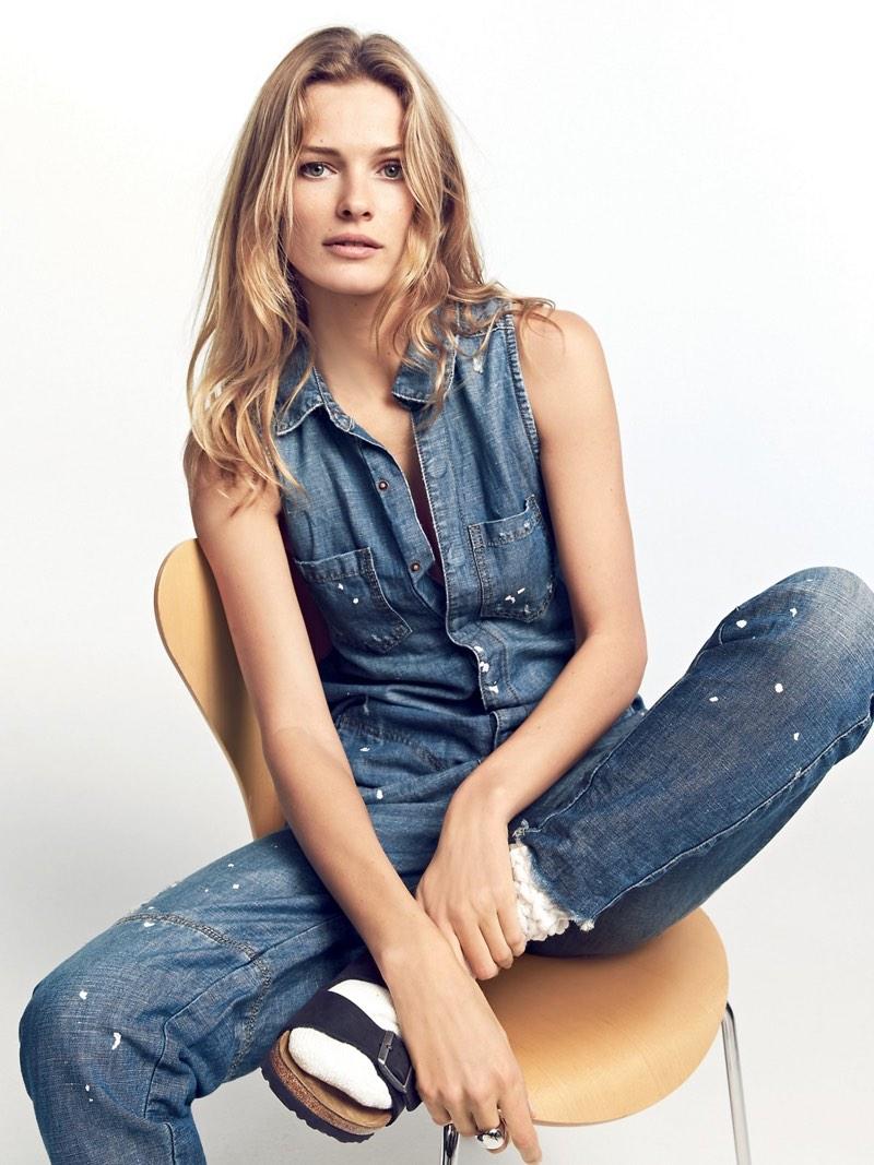 Edita Vilkeviciute Keeps It Casual in Free People's Spring Looks