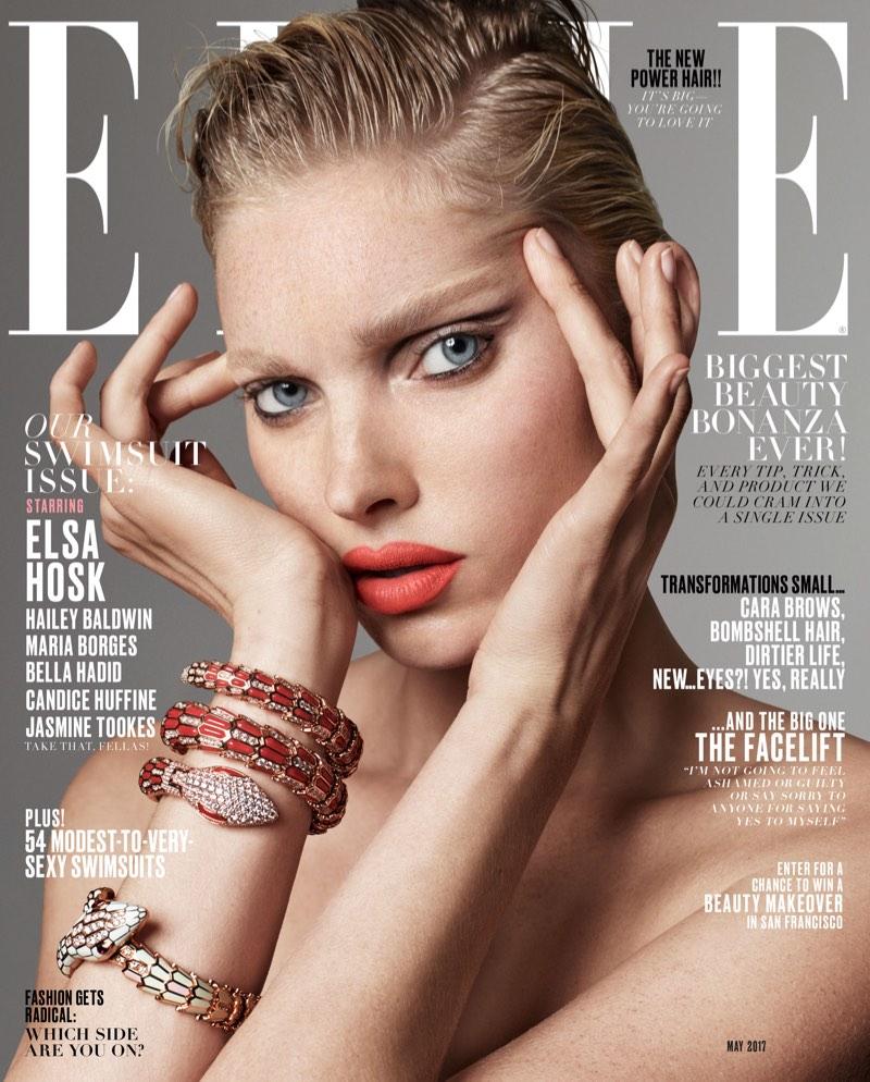 Elsa Hosk on ELLE Magazine May 2017 Cover