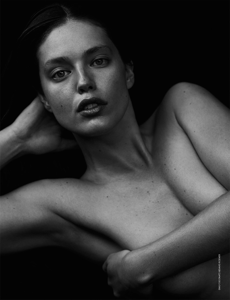 Photographed by David Roemer, Emily DiDonato poses topless