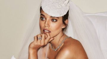 Emily DiDonato Takes On Bridal Beauty for Vogue Paris