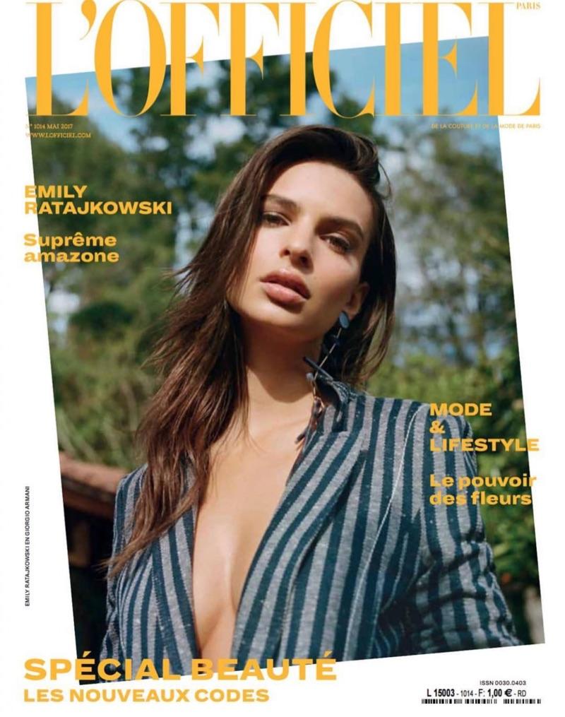 Emily Ratajkowski on L'Officiel Paris May 2017 Cover
