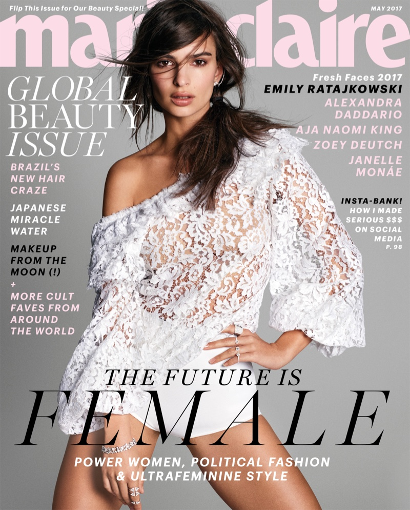 Emily Ratajkowski on Marie Claire May 2017 Cover