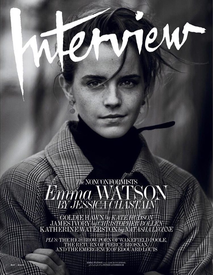 Emma Watson on Interview Magazine May 2017 Cover