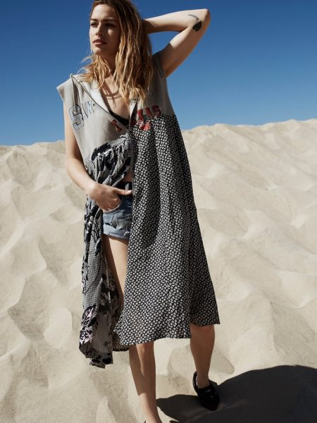 Free People Dress Me Up Pullover and Bandit Denim Cutoffs