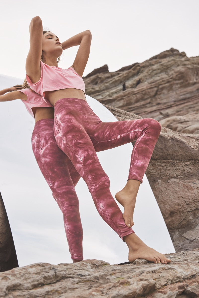 FP Movement Stella Crop Top and Washed Barely There Legging
