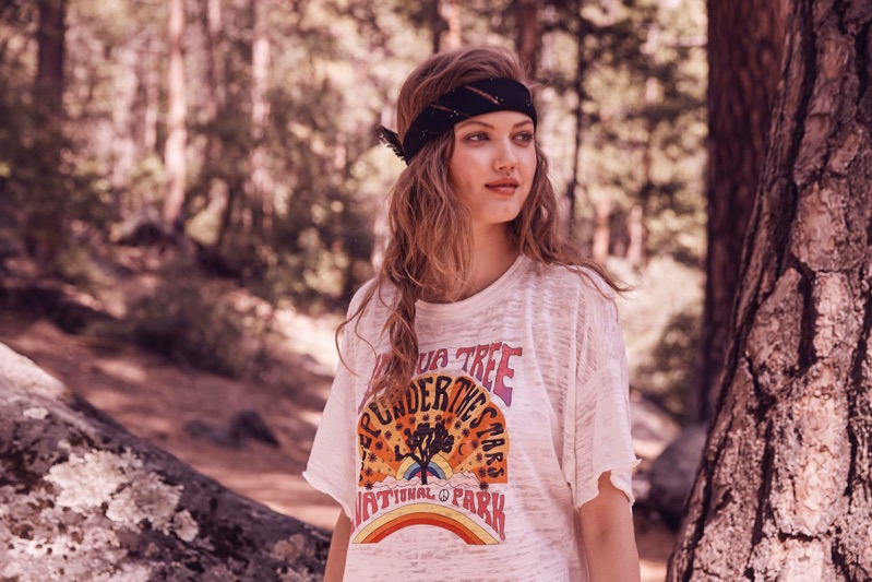 Free People Joshua Tree Tee and Venice Beach Webbed Belt