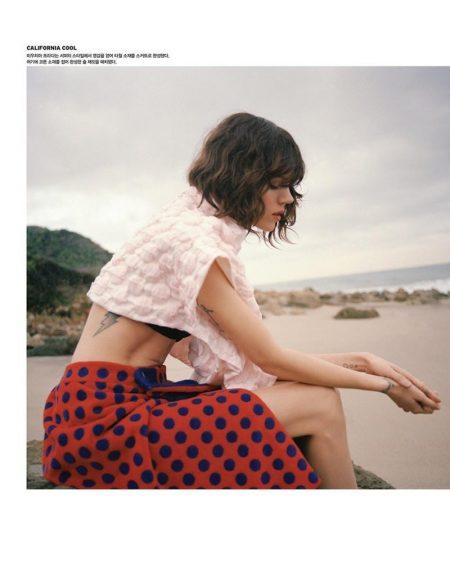 Freja Beha Erichsen Models Miu Miu's Spring Looks in Vogue Korea