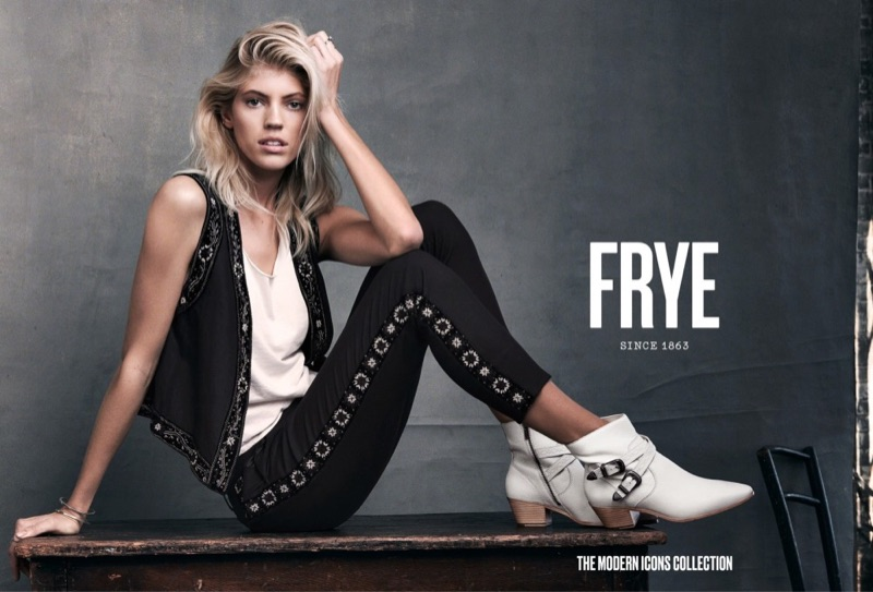 FRYE features the Ellen Buckle Short Boot in spring 2017 campaign