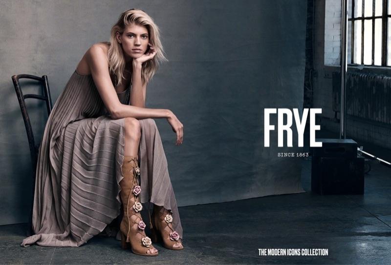 Devon Windsor models FRYE Gabby Ghillie Tall Boot
