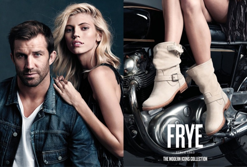 Devon Windsor Models Sleek Boots in FRYE's Spring 2017 Campaign