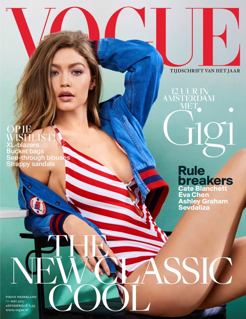 Gigi Hadid on Vogue Netherlands May 2017 Cover