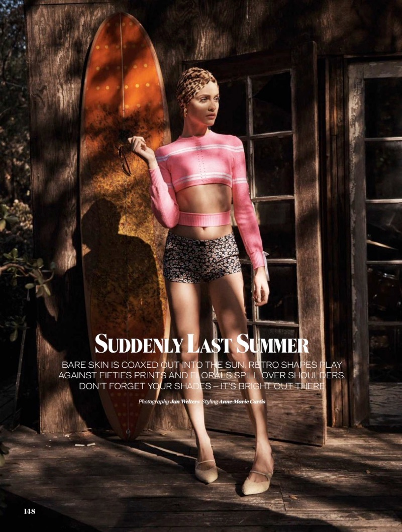 Ginta Lapina stars in ELLE UK's May issue
