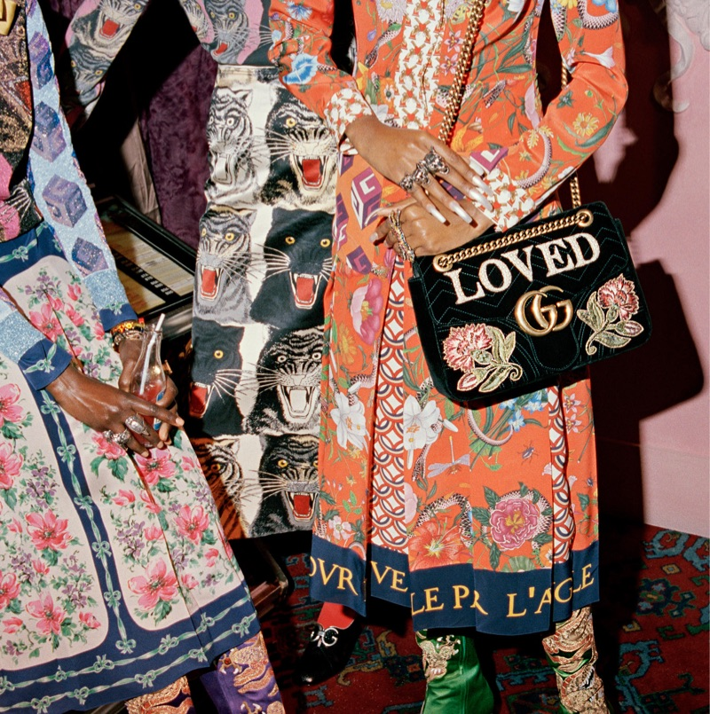 Alessandro Michele designs embroidered pieces for Gucci's pre-fall 2017 collection